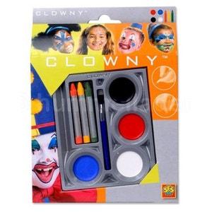 Palette de maquillage Aqua 7 couleurs Clowny : Clown SES CREATIVE