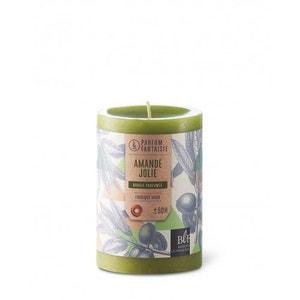 Bougie parfumée cylindrique 10cm 50h amande jolie vert BOUGIES LA FRANÇAISE