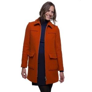 Manteau zippé en laine vierge TRENCH AND COAT