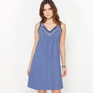 Embroidered 100% Cotton Dress ANNE WEYBURN