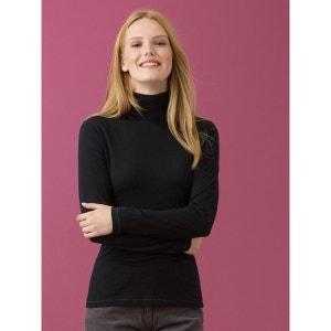 T-shirt femme coton/cachemire col roulé, IGUSHIK SOMEWHERE