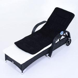 Matelas de massage noir avec fonction chauffante et télécommande - HOMCOM HOMCOM