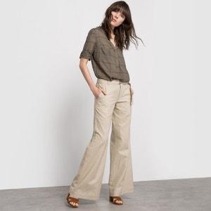 Wijde broek in linnen/katoen La Redoute Collections