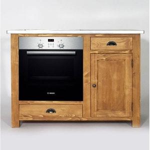 Meuble de Cuisine en bois pour Four et Plaques Campagne  |  N511Z MADE IN MEUBLES