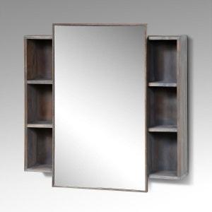 Miroir teck la redoute for Miroir 90x70 bois