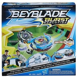 Set de combat Toupie Beyblade Burst Evolution : Arène Tempête de cristal HASBRO