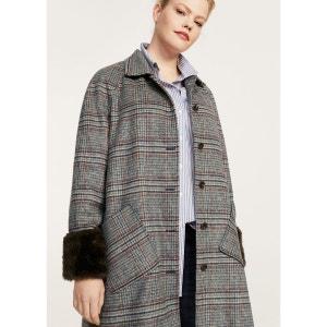 Manteau à carreaux en laine VIOLETA BY MANGO