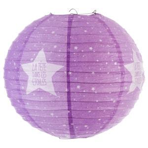 Lanterne boule imprimée - Diam. 35cm. - Violet ATMOSPHERA