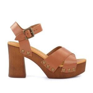 Sandales sabots cognac SACHA