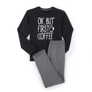 Lange pyjama, print op de borst La Redoute Collections
