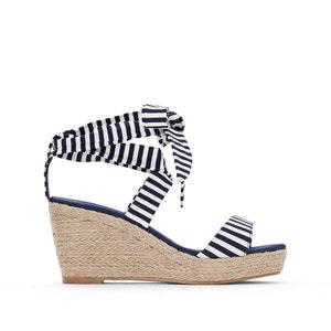 Sandalen met sleehak in koord CASTALUNA