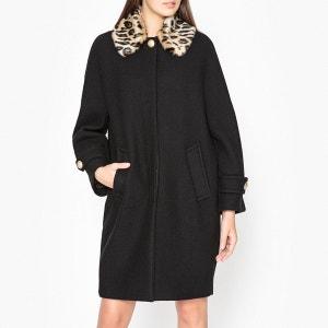 Manteau à carreaux et col amovible OMENSA ESSENTIEL ANTWERP