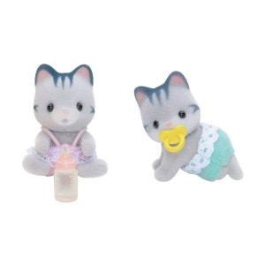 Sylvanian 3216 : Bébés jumeaux chats gris SYLVANIAN FAMILIES
