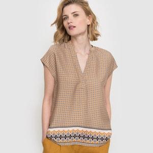 Bedrukte blouse met korte mouwen atelier R
