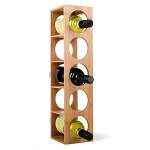 Casier à vin empilable  de bambou 5 bouteilles ZELLER PRESENT