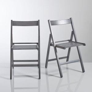 Chaise pliante, hêtre massif, Yann, lot de 2 LA REDOUTE SHOPPING PRIX