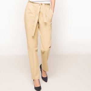 Pantalon droit avec ceinture à nouer La Redoute Collections