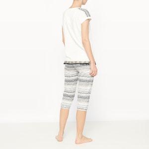 Pijama con pantalón pesquero de manga corta de algodón Galon DODO