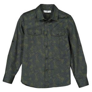 Camisa estampada de manga larga 3-12 años