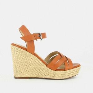 Sandales cuir compensées Sacha JONAK