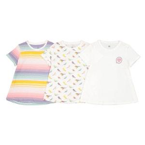 Lot de 3 t-shirts 3-12 ans La Redoute Collections