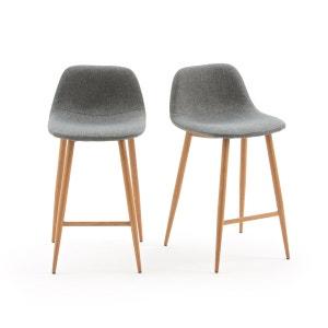 Chaise de bar mi-hauteur, NORDIE (lot de 2) La Redoute Interieurs