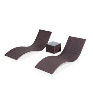 Bains de soleil, transats en résine tressée - VENDUS PAR DEUX - Chocolat ALICE S GARDEN