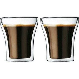 BODUM Set de 2 verres ASSAM double paroi 0,2L ATLANTIC