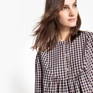 Robe chemise à carreaux La Redoute Collections