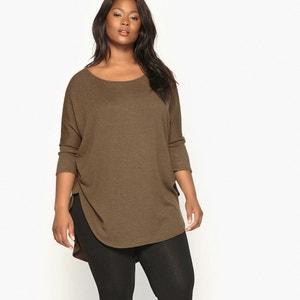 Shirt, runder Ausschnitt, uni, 3/4-Ärmel CASTALUNA