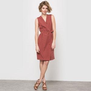 Платье перекрестное с треугольным принтом