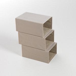 Lote de 3 caixas de arrumação, dobráveis, para calçado La Redoute Interieurs