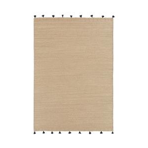 Gevlochten tapijt met pompons AZOU