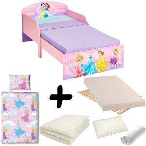 Pack complet Lit Princesse Ptit Bed Disney = Lit+Matelas & Parure+Couette+Oreiller DELTA