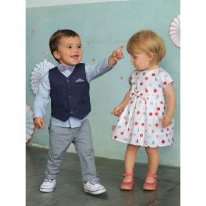 Ensemble bébé garçon cérémonie gilet + chemise + noeud papillon + pantalon VERTBAUDET
