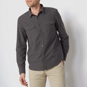 Koszula z długim rękawem, krój regularny, flanela La Redoute Collections
