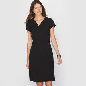 Short-Sleeved Stretch Twill Dress ANNE WEYBURN
