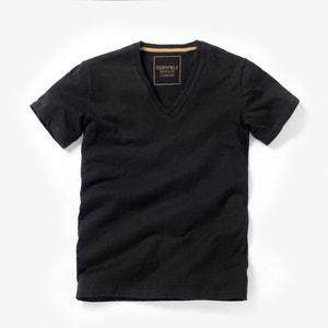 T-Shirt, V-Ausschnitt, Baumwolle La Redoute Collections