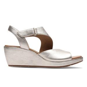 Leren sandalen met sleehak Un Plaza Sling CLARKS