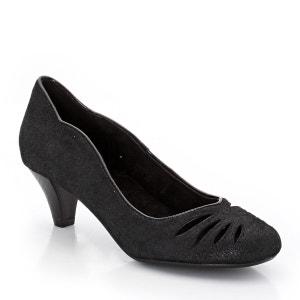Sapatos em pele (croute) irisada, debrum a contrastar ANNE WEYBURN