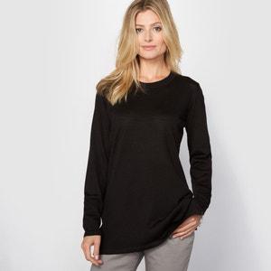 Пуловер-туника, 50% шерсти мериноса ANNE WEYBURN