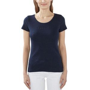 T-shirt in katoen met korte mouwen ESPRIT