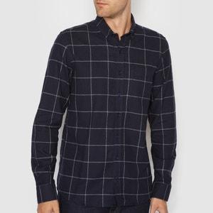 Camicia maniche lunghe taglio dritto 100% cotone R essentiel