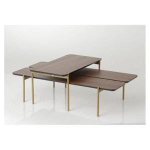 Lot de 2 tables basses OSVALD HELLIN, DEPUIS 1862
