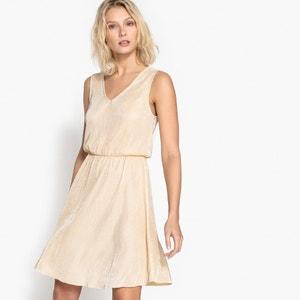 Ärmelloses Plissee-Kleid mit V-Ausschnitt La Redoute Collections