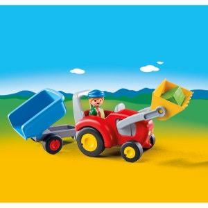 Fermier avec tracteur et remorque multicolore PLAYMOBIL