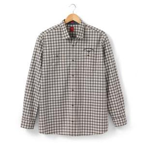Camisa aos quadrados com mangas compridas