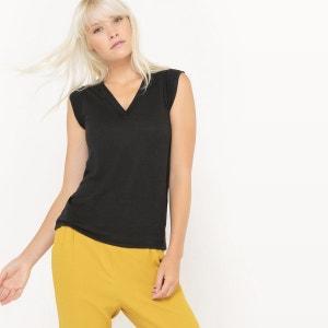 T-shirt sans manches col V La Redoute Collections