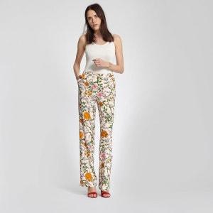 Pantalon fluide motif floral coloré MORGAN