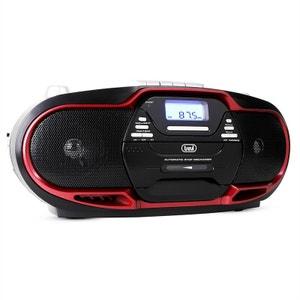 CMP-574 Boombox lecteur CD MP3 USB K7 FM/AM -rouge TREVI